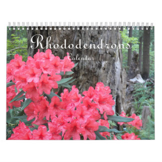 Rhododendrons Floral Photo Wall Calendar