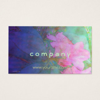 Rhododendrons Pink & Bue Watercolor Business Card