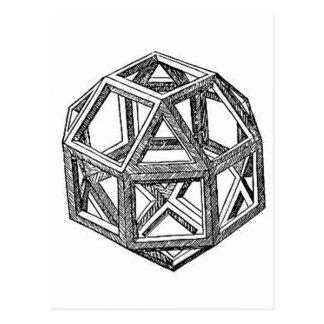 Rhombicuboctahedron, Leonardo Da Vinci Postcard