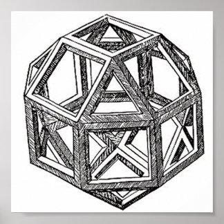 Rhombicuboctahedron, Leonardo Da Vinci Print