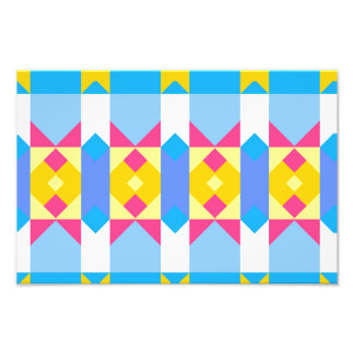 Rhombus and other shapes abstract design art photo