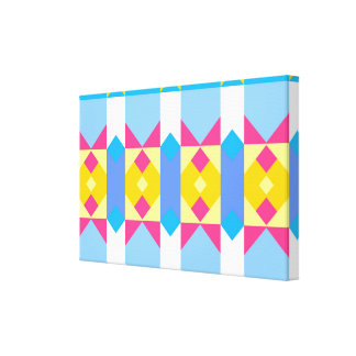 Rhombus and other shapes abstract design gallery wrap canvas