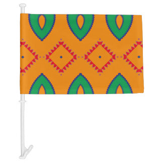 Rhombus and other shapes car flag