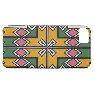 Rhombus squares and a cross iPhone 5C case
