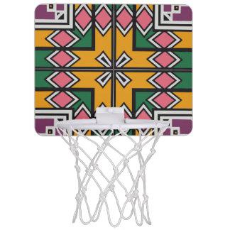 Rhombus squares and a cross mini basketball hoop