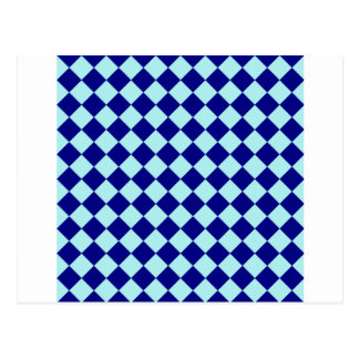 Rhombuses Large - Pale Blue and Navy Blue Postcards