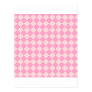 Rhombuses Large - Pale Pink and Carnation Pink Post Cards