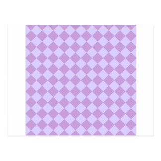 Rhombuses Large - Wisteria and Pale Lavender Postcard