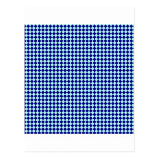 Rhombuses - Pale Blue and Navy Blue Postcard