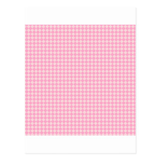 Rhombuses - Pale Pink and Carnation Pink Postcard