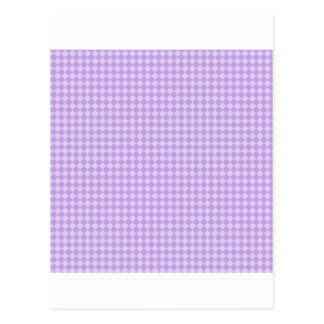 Rhombuses - Wisteria and Pale Lavender Post Card