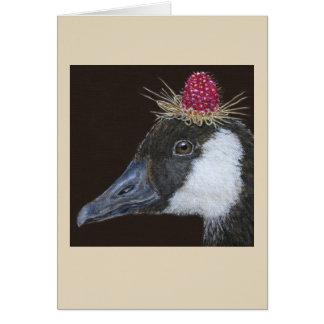 Rhonda the Canada goose greeting card