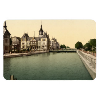 Rhone and Rhine Canal, Mulhouse, France Rectangle Magnets