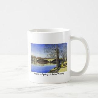 Rhone In Spring, Rhone In Spring: © Peter Worsley Coffee Mugs