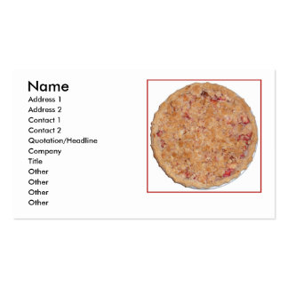 Rhubarb Pie Double-Sided Standard Business Cards (Pack Of 100)