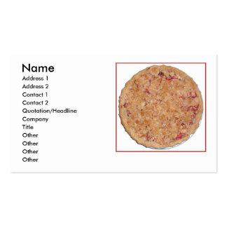 Rhubarb Pie Business Card