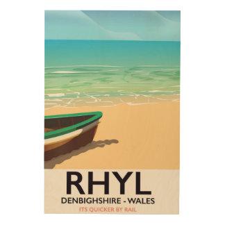 Rhyl Denbighshire wales vintage railways poster