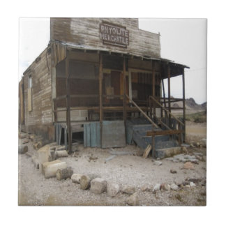 Rhyolite Mercantile Building Ceramic Tile