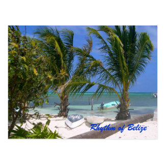 Rhythm of Belize Beach Postcard