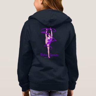 Rhythmic Gymnastics Flower Ribbon Front Zip Hoodie