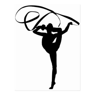 Rhythmic Gymnastics - Ribbon Postcard