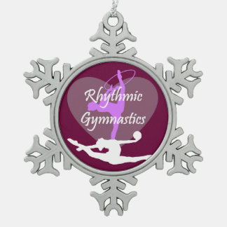 Rhythmic Gymnastics Snowflake Pewter Christmas Ornament
