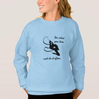 Rhythmic gymnastics sweatshirt
