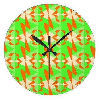 Rhythmic Orange Large Clock