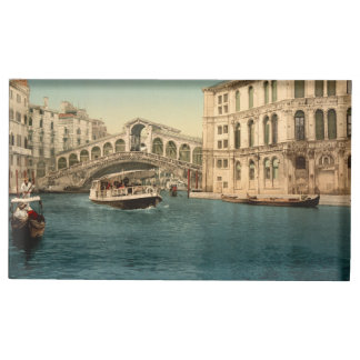 Rialto Bridge and Grand Canal, Venice, Italy Table Card Holders