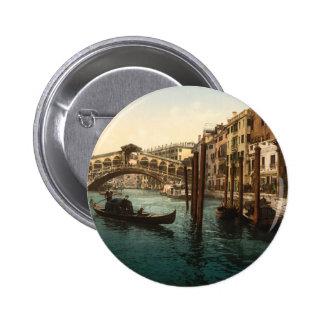 Rialto Bridge I, Venice, Italy 6 Cm Round Badge
