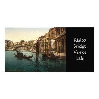 Rialto Bridge I, Venice, Italy Customized Photo Card