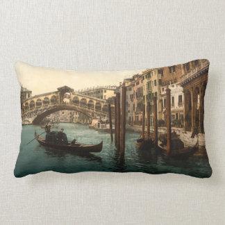 Rialto Bridge I, Venice, Italy Lumbar Cushion