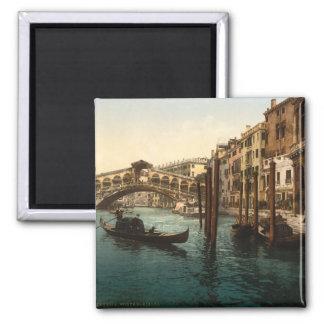 Rialto Bridge I, Venice, Italy Square Magnet