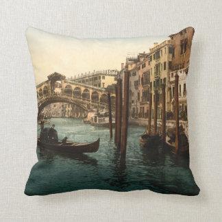 Rialto Bridge I, Venice, Italy Throw Pillow