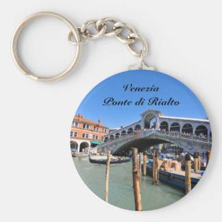 Rialto Bridge in Venice, Italy Key Ring
