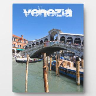 Rialto Bridge in Venice, Italy Plaque
