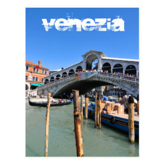 Rialto Bridge in Venice, Italy Postcard