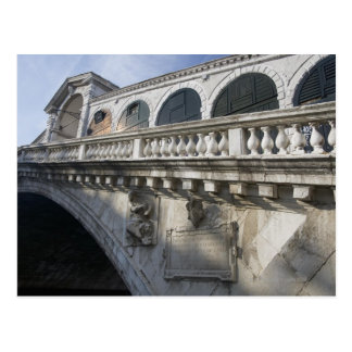 Rialto Bridge over the Grand Canal Venice Italy Postcard