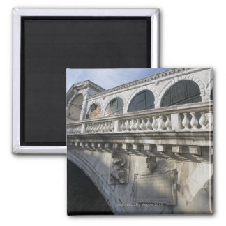 Rialto Bridge over the Grand Canal Venice Italy Square Magnet