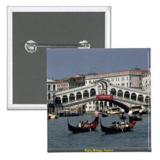 Rialto Bridge, Venice 15 Cm Square Badge