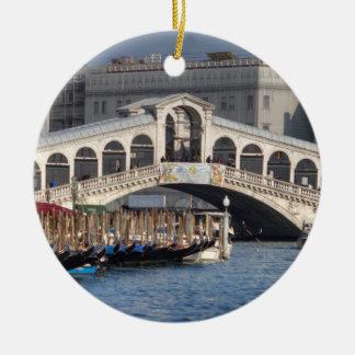 Rialto Bridge Venice Italy Ceramic Ornament