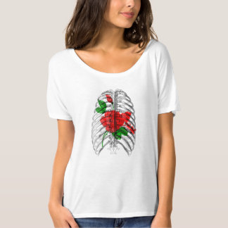 Rib Cage and Flowers T-Shirt