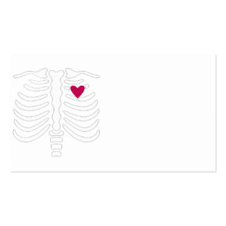 Rib Cage and Heart Business Card Template