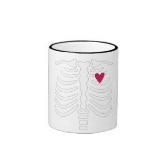 Rib Cage and Heart Mugs