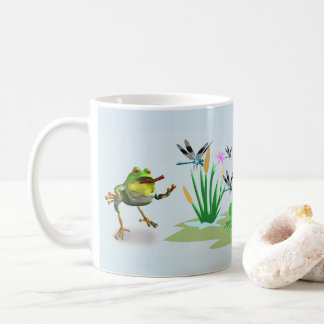 Ribbit Chasing Dragonfly Coffee Mug