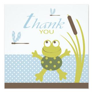 Ribbit Swimming Frog Thank You Card