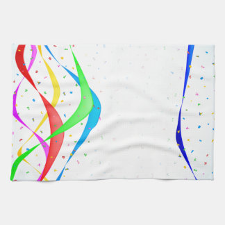 Ribbon and Confetti Party Hand Towels