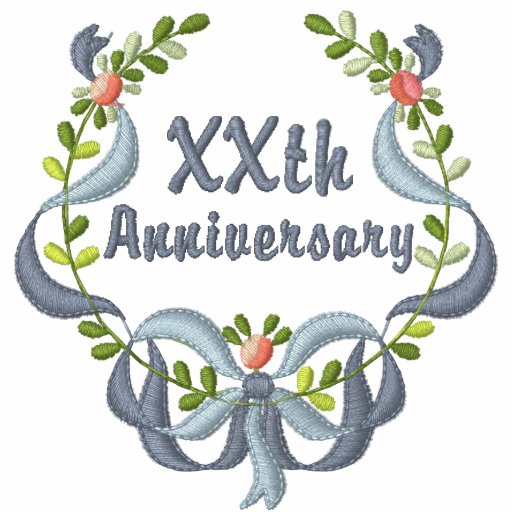 Ribbon and Floral -  Customize Anniversary