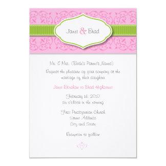 Ribbon and Seal Wedding Invitation