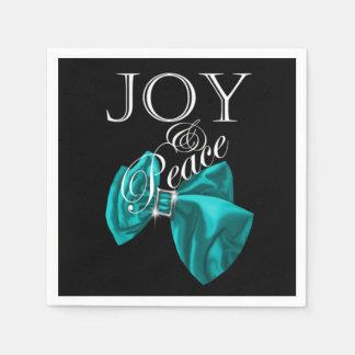 ribbon blue joy peace disposable serviette